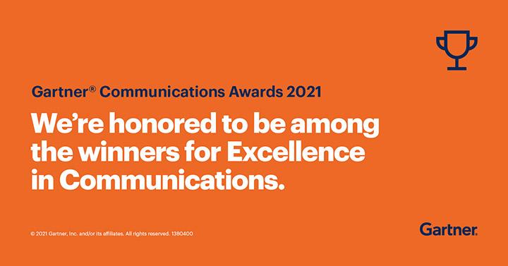 Award from Gartner Communications